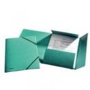 Teczka preszpanowa ESSELTE A4 z gumką 26596 zielona