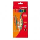 Kredki ołówkowe sześciokątne STABILO 12 kolorów