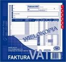 Faktura VAT MICHALCZYK I PROKOP 2/3 A4 netto 100-2 wielokopia pełna 80K