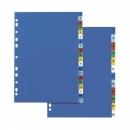 Przekładki plastikowe ELBA A4 1-12 kolorowe z nadrukiem na indeksach E175512