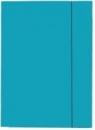 Teczka tekturowa DATURA A4 lakierowana z gumką 21234 niebieska