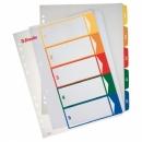 Przekładki plastikowe ESSELTE A4 z możliwością nadruku 1-5 kart 100211