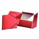 Teczka preszpanowa ESSELTE A4 z gumką 26593 czerwona