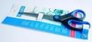 Nożyczki biurowe BANTEX z gumowym uchwytem 22,5 cm.