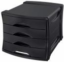 Pojemnik z 4 szufladami ESSELTE Europost VIVIDA czarny 623761