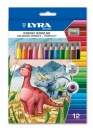 Kredki trójkątne grube LYRA 12 kolorów