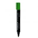 Marker permanentny STAEDTLER Lumocolor ze ściętą końcówką zielony