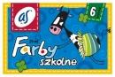 """Farby ASTRA szkolne """"as"""" 6 kolorów 20 ml"""