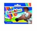 Kredki BAMBINO 18 kolorów świecowe w pudełku kartonowym