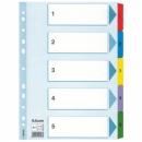 Przekładki kartonowe ESSELTE MYLAR 1-5 kart 100160