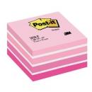 Kostka samoprzylepna Post-it akwarelowa różowa 2028-P, 76x76 mm 450 kartek