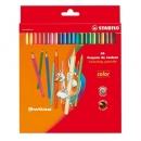 Kredki ołówkowe sześciokątne STABILO 24 kolory