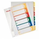 Przekładki plastikowe ESSELTE A4 z możliwością nadruku 1-6 kart 100212