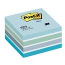 Kostka samoprzylepna Post-it akwarelowa niebieska 2028-B, 76x76 mm 450 kartek
