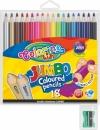 Kredki COLORINO ołówkowe okrągłe jumbo 18 kolorów + temperówka