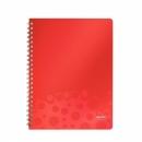Zeszyt LEITZ BEBOP A4 80k kratka czerwony 45730025