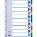 Przekładki plastikowe ESSELTE A4 10 kart kolorowe 15261