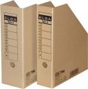 Pojemniki ELBA kartonowy TRIC 4 na czasopisma 75mm E83418 szary
