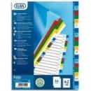 Przekładki plastikowe ELBA A4 A-Z kolorowe z nadrukiem na indeksach E175520