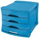 Pojemnik z 4 szufladami ESSELTE Europost VIVIDA niebieski 623961