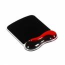 Podkładka KENSINGTON pod mysz Crystal Mouse Pad Wave - żelowa, czerwono-czarna