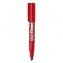 Marker permanentny PENTEL NN60 czerwony ze ściętą końcówką