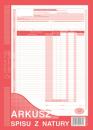 Arkusz spisu z natury MICHALCZYK I PROKOP A4 (pion) 341-1 oryginał + kopia 48 kartek