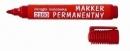 Marker permanentny D.RECT 2160 okrągły czerwony 101112