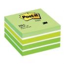 Kostka samoprzylepna Post-it akwarelowa zielona 2028-G, 76x76 mm 450 kartek