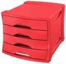 Pojemnik z 4 szufladami ESSELTE Europost VIVIDA czerwony 623960