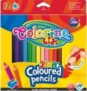Kredki ołówkowe trójkątne Colorino kids Jumbo 12 kolorów + temperówka