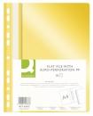 Skoroszyt PP Q-CONNECT A4 z perforacją żółty 10szt.