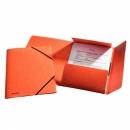 Teczka preszpanowa ESSELTE A4 z gumką 26594 pomarańczowa