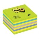 Kostka samoprzylepna Post-it cukierkowa niebiesko-zielona 2028-NB, 76x76 mm 450 kartek