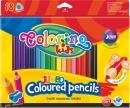 Kredki ołówkowe trójkątne Colorino kids Jumbo 18 kolorów + temperówka