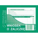 Wniosek o zaliczkę MICHALCZYK I PROKOP A6 408-5 offset 40 kartek