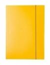 Teczka tekturowa DATURA A4 lakierowana z gumką 21231 żółta