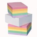 Kostka papierowa HAS klejona kolorowa 85x85 mm