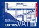 Faktura VAT MICHALCZYK I PROKOP A5 netto 100-3 wielokopia pełny poziom 80K