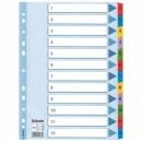 Przekładki kartonowe ESSELTE MYLAR 1-12 kart 100162