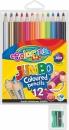 Kredki COLORINO ołówkowe okrągłe jumbo 12 kolorów + temperówka