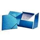 Teczka preszpanowa ESSELTE A4 z gumką 26595 niebieska