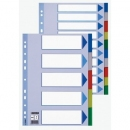Przekładki plastikowe ESSELTE A4 MAXI 5 kart kolorowe 15266